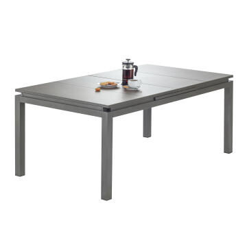 Table Odyssea Aluminium Brown Extendable 180/240 cm X 100 cm NATERIAL