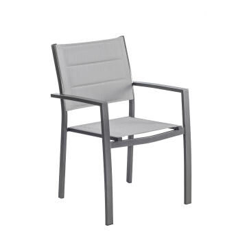 NATERIAL ORION BETA ARMCHAIR ALU TEXT 2X1 PADDED BROWN