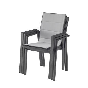 Chair Orion Gamma Armchair Aluminium Brown NATERIAL