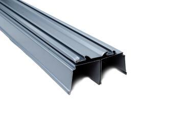 Set of 2 Wardrobe sliding door rail grey 180cm