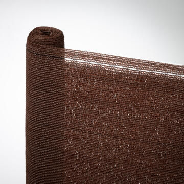 Shade Netting Total Privacy NATERIAL 99% 230g/m2 Brown 1 m X 3 m