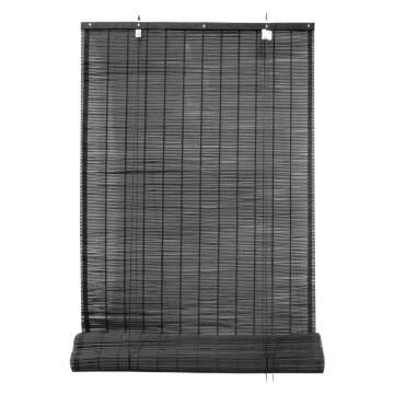 Roll Up Blind INSPIRE Bamboo Djibouti Black 90x230cm
