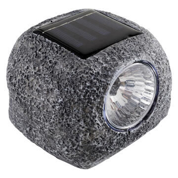 Outdoor light solar LED INPIRE stone Ouvea resin