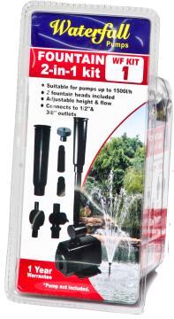 Pump, Fountain Kit, WATERFALL, Kit Nr1