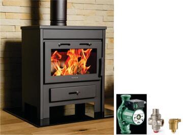 Wood Stove Boiler JADE for 200 Sqr Meter