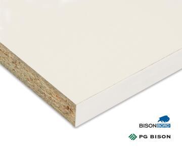 Plank Melamine on Chip Super White Peen 16mm thick-1830x305mm