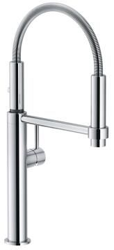 Kitchen tap lever mixer 360 degrees FRANKE Pescara chrome
