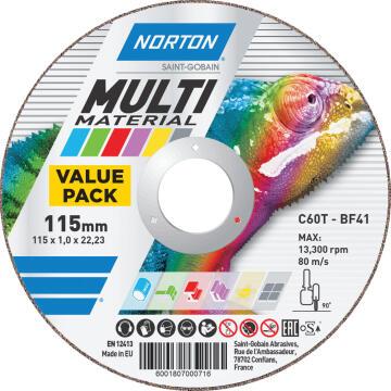 Cutting disc 115x1x22,2mm NORTON Multipurpose 5 Pieces