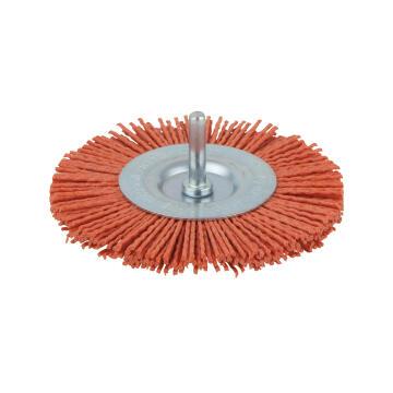 Nylon wheel brush, 6 mm shank WOLFCRAFT