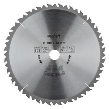 Circular saw blade WOLFCRAFT 28 teeths 300x30x32mm
