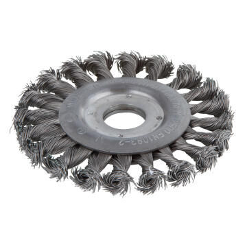 Wire Wheel Brush, Twisted 22.2 Mm Bore Wolfcraft