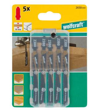 5 Jigsaw blades WOLFCRAFT T-shaft hcs rough cut