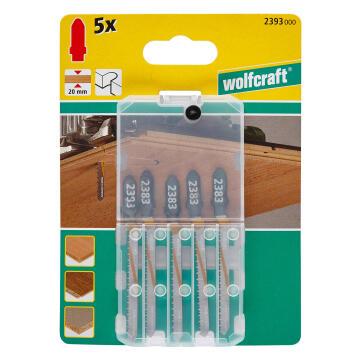 5 Jigsaw blades WOLFCRAFT T-shaft hcs curved cut