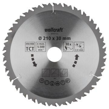 Circular saw blade WOLFCRAFT ct 30 teeth 210x30x24