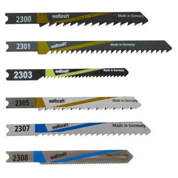 10 Jigsaw blades WOLFCRAFT U-shaft metal & wood