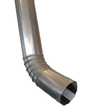 Galvanized Steel Round Downpipe 75mm x 2.7m Soldered Shoe PREMIER