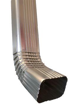 Galvanized Steel Square Downpipe 100mm x 75mm x 2.7m PREMIER