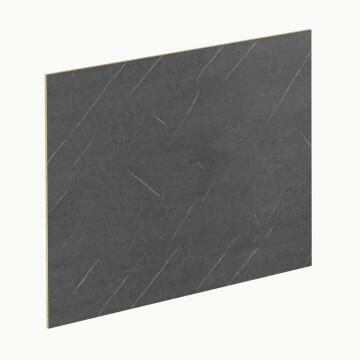Kitchen splash back laminate Black Marble/Cabin Wood L300mm x H64mm x T8mm