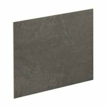 Kitchen splash back laminate Black Metal/Luna Black L300mm x H64mm x T8mm