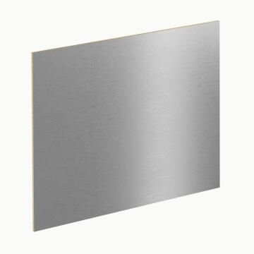 Kitchen splash back laminate Stainless Brush Effect L3000mm x H640mm x T8mm
