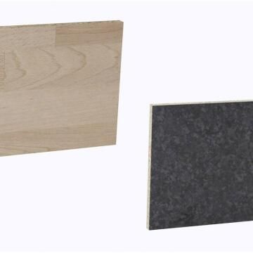 Kitchen splash back laminate Scissed Beech/Blk Marble L300mm x H64mm x T8mm
