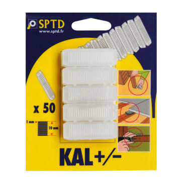 Wedges for Cladding 1-10mm-pack of 50