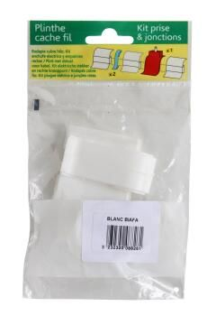 Skirting PVC Plug Kit White