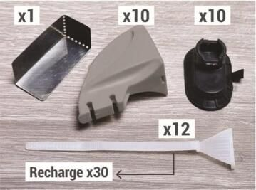 Skirting Fixation Tool Replacement Blades Kit x30