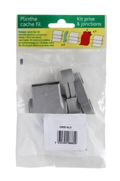 Skirting PVC Plug Kit Grey