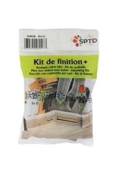 Skirting PVC Finishing Kit Grey
