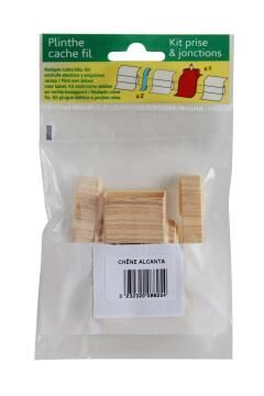 Skirting PVC Plug Kit Oak
