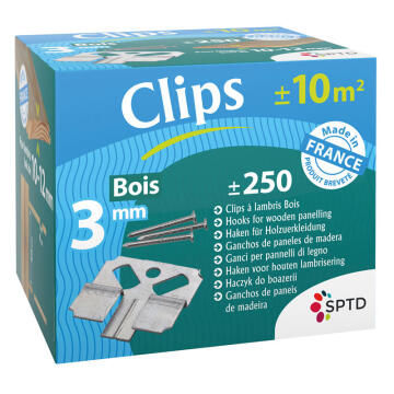 Clip 3mm for Wood Cladding Installation 10-12mm-pack of 250