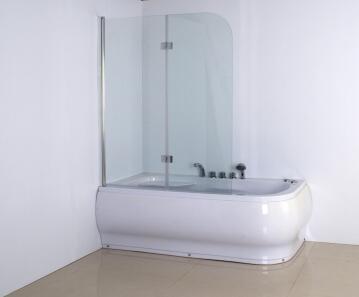 Bathscreen 1 panel glass DANZA clear 120X45CM