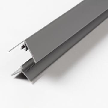 Wall Panel Accessory PVC Universal Clip Angle Profile Dark Grey-20x20x2600mm