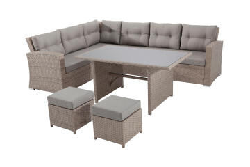 Sofa Set Palermo 6 Seater Corner Set Rattan