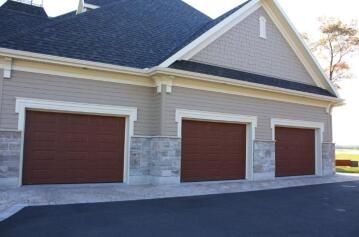 Garage Door Sectional Steel Insulated 16 Panel Dark Oak Textured-Single-w2440xh2140mm