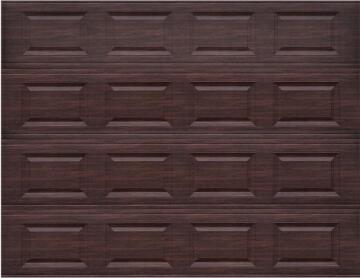 Garage Door Sectional Steel Insulated 16 Panel Dark Oak Textured-Single-w2440xh2140mm