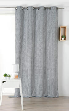 CURTAIN BLOCKOUT GIANI BLACK 145X240CM