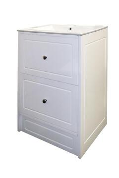 Cabinet 2 door vanity Charm white 600MM