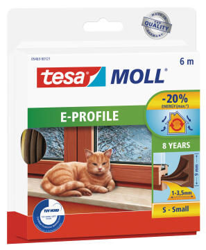 E-Profile TESAMOLL brown 6m x 9mm x 4mm