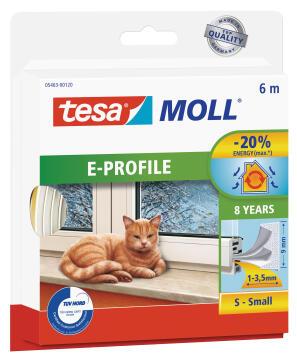 E-Profile TESAMOLL white 6m x 9mm x 4mm
