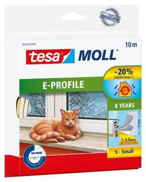 E-Profile TESAMOLL white 10m x 9mm x 4mm