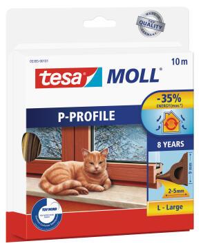 P-Profile TESAMOLL brown 10m x 9mm x 5.5mm