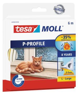 P-Profile TESAMOLL white 6m x 9mm x 5.5mm