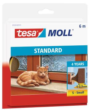 Standard I-Profile TESAMOLL brown 6m x 9mm x 4mm