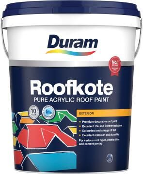 Acrylic roof paint DURAM Roofkote Grey 20L