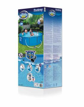 Swimming Pool 366 cm X 76 cm Steel Frame Set 6473 l