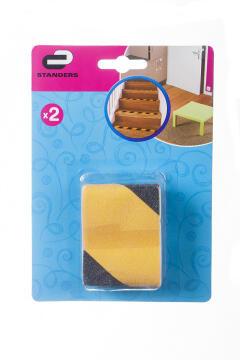 Anti-slip grid tape yellow & black 1m 2pc standers
