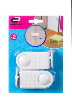 Door angle lock white plastic 2pc standers