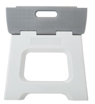 Compact foldable stool grey 27cm